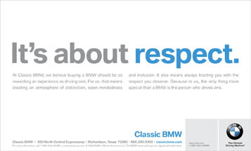 BMW - It's About Respect.