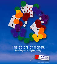 Delta Airlines - Colors Of Money - Las Vegas
