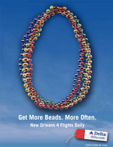 Delta Airlines - Get More Beads, More Often - New Orleans