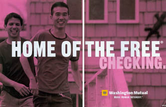 Washington Mutual/WaMu - Home of the Free Checking/Biracial Couple