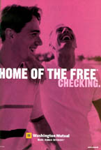 Washington Mutual/WaMu - Home of the Free Checking/Male Couple