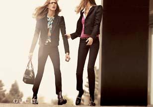 Gucci - Two Women -- Black Blazers