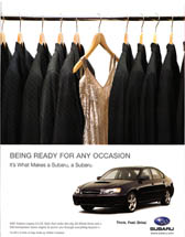 Subaru of America - Being Ready for Any Occasion