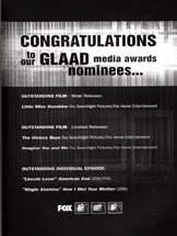 Fox Network - Congratulations (GLAAD)