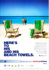 American Airlines - His and His Towels