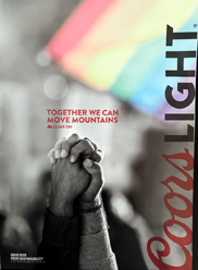 Coors beer - Together We Can Move Mountains