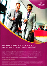 Crowne Plaza - The secret to a successful meeting.