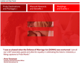 Marriott International - I Was So Pleased with the Defense of Marriage Act Was Overturned