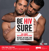 Health awareness - Be HIV Sure - Male Couple