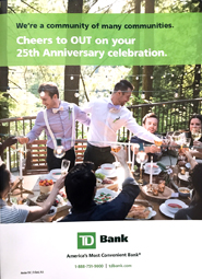 TD Bank Group/TD Canada Trust - Cheers to OUT on your 25th Anniversary Celebration