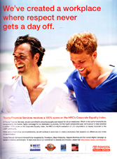 Toyota Financial Services - We've created a workspace where respect never gets a day off.