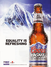 Coors Light - Equality Is Refreshing