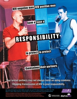 Gay/Lesbian health awareness - HIV is a Responsibility (Bar)