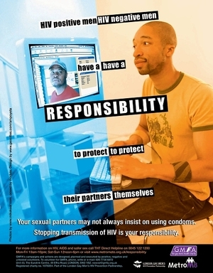 Gay/Lesbian health awareness - HIV is a Responsibility (Internet)