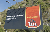 Tui beer - Dad's new husband seems nice. Yeah right.
